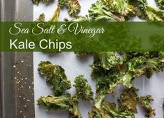 Sea Salt & Vinegar Kale Chips - Satisfy that snack craving with these delicious kale chips that are healthy, crunchy, and salty - better than potato chips!