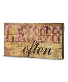 'Laugh Often' Marquee Sign | zulily