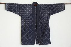 Japanese ken-do sashiko stitched indigo hanten jacket