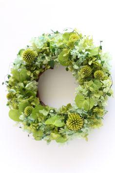 プリザーブドグリーンpreserved green wreath