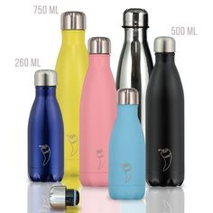 4e6de66c95 Chilly's Bottles | Leak-Proof, No Sweating | BPA-Free Stainless Steel | · Mini  BottlesWater ...