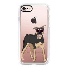 Rottweiler German Shepherd Mix - iPhone 7 Case, iPhone 7 Plus Case,... ($40) ❤ liked on Polyvore featuring accessories, tech accessories, iphone case, apple iphone case, iphone cover case and iphone cases