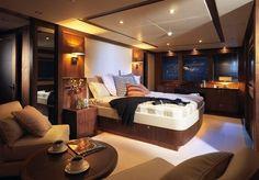 Luxury yacht room