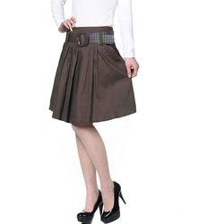 mobile site-Fashion Knee Length Women Skirt Big Size Pleated Spring,Summer Skirts Black,Khaki