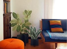 "Have you neglected another houseplant? If you don't have a green thumb, do yourself a favor and get a few SR Flat Plants. The ""paint by numbers"" style kit includes a plywood plant cutout, pai…"