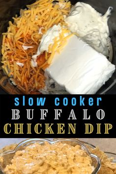 This slow cooker buffalo chicken dip is so fast and easy anyone can make it with 5 simple ingredients. If you need party food appetizers pair this dip with tortilla chips or celery sticks. I also like to use this dip for pot luck side dishes. Just heat it up at the party or warm it up at home before hand. To see this recipe or any of my other party ideas visit my blog at VanahLynn.com. You will find free printable thank you cards, mermaid centerpieces, and birthday outfits. Yummy Appetizers, Appetizer Recipes, Birthday Party Appetizers, Unique Birthday Party Ideas, Easy Party Food, Pot Luck, Birthday Outfits, Chicken Dips, Gold Birthday