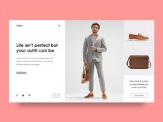 Experimental Fashion Webpage UI Layout
