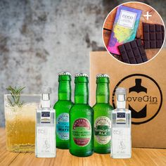 The ultimate gift set including a box of gins & tonics as well as a delicious bar of G&T chocolate! A must for any gin or chocolate lovers out there! Chocolate Gifts, Chocolate Lovers, Mother's Day Gift Sets, Gin Lovers, Ginger Ale, Gin And Tonic, Coconut Water, Iceland, Mother Day Gifts