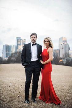 Strikingly Elegant Midtown Atlanta Engagement Session by  Still55 Photography