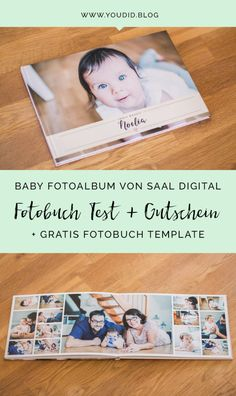 Our Baby Fotoalbum by Saal Digital - Photo Book Test + Voucher and free template for you - Youdid, Free Photo Book, Baby Photo Books, Photo Book Reviews, Wedding Album Design, Print Your Photos, Babies First Year, Book Layout, Book Design, Baby Photos