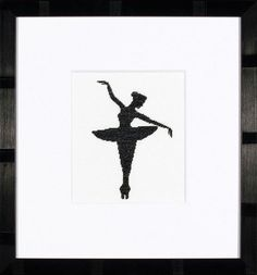 Twirl and pirouette to your hearts content with this Ballet Silhouette 1 cross stitch kit from Lanarte.