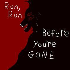 "wxlfkin: """"run, run before you're G O N E "" art inspired by @howlsnteeth /again/? wowie wyd me """