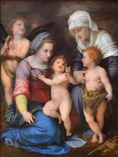 Andrea del Sarto - The Madonna and Child with the Infant Saint John the Baptist and Saint Anne, Alte Pinakothek, Munich.: