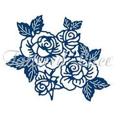 Dies découpe gaufrage matrice Tattered Lace fleurs roses    Découpe et gaufrage pour vos faire part et cartes de scrapbooking avec les dies