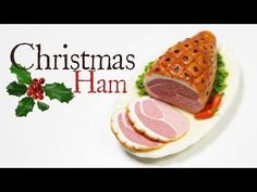 polymer clay Christmas Ham TUTORIAL - YouTube