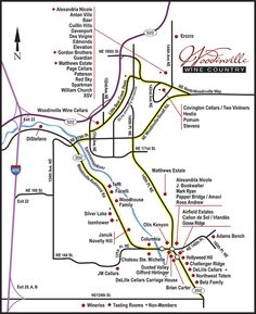 woodinville wine country map just east of seattle in the