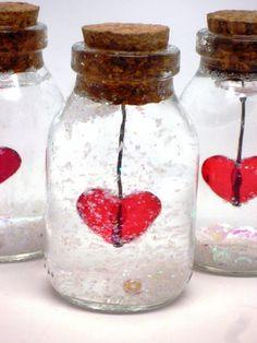 Vidro Decorado com Coração