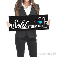 Real Estate Testimonial Prop - - different design on each side - thick White PVC Hard Plastic - FREE UPS shipping Real Estate Signs, Real Estate Career, Selling Real Estate, Realtor Signs, Instagram Handle, Bodo, Corporate Gifts, Real Estate Marketing, Personal Branding