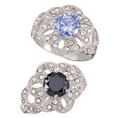 This floral-inspired number only looks extravagant, with a round diamond-weight-equivalent CZ surrounded by sparkling rhinestones set in silvertone. Jewelry For Her, Jewelry Sets, Fine Jewelry, Fashion Rings, Fashion Jewelry, Avon Rings, Avon Fashion, Affordable Jewelry, Beautiful Rings