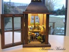Miniature Garden Potting Bench