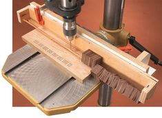 Drill Press JIg For Cribbage board making.