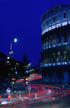 Roman Colosseum, Italy  Roman Colosseum at night.      Dennis Johnson Lonely Planet Photographer  © Copyright Lonely Planet Images 2011