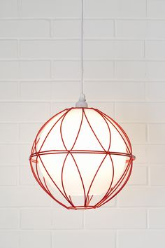 Easy lighting DIY with no wiring required— Wire basket globe pendant