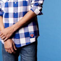 Levi's NBA Plaid Western Shirt Chambray - Men's S