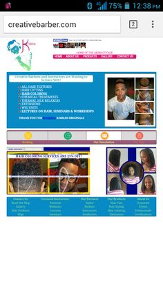 """Website design for creativebarber.com The Home of the """"Abstract Haircut"""" #TeamBLAM! Textured Hair, Workshop, Hair Cuts, Hair Color, Website, The Originals, Abstract, Design, Haircuts"""