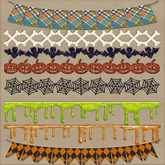 Tricks & Treats Borders  Banners by HarperFinchDesigns on Etsy, $3.00