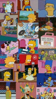 Iphone 7 Plus Wallpaper, Wallpaper Tumblr Lockscreen, Hype Wallpaper, Future Wallpaper, Cute Wallpaper Backgrounds, Disney Wallpaper, Simpsons Drawings, Simpsons Art, Aesthetic Pastel Wallpaper