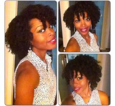 Natural hair style: twist out
