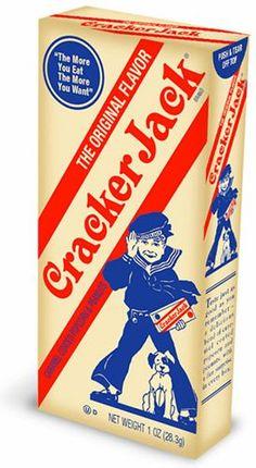 Cracker Jacks. The toys used to be sweet.