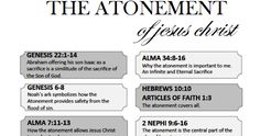 Sunday School Lesson  The Scriptures Teach About The Atonement of Jesus Christ  March Come Follow Me  Ages 12-18   The scriptures are full o...