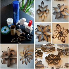 Toilet paper roll snowflakes VoneInspired