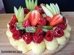 Sablé noisette aux fruits #sansgluten et sa crème chiboust vanille #sanslactose  #patisserie #pastery #glutenfree #dairyfree