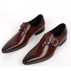 Single Monk Strap Leather Made For Men