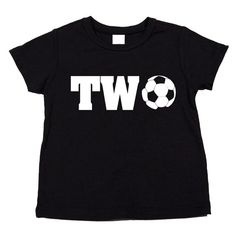 Personalized Second Birthday Soccer Ball T-Shirt. Birthday Present for kids.