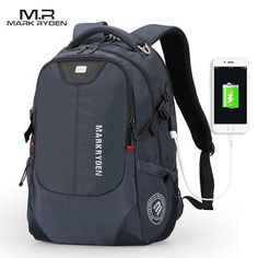 Mark Ryden Backpack For 15.6 inch Laptop with USB charging port