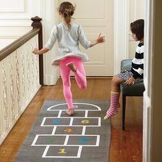 Hop, Skip and a Jump Playmat in All Little Kid Gifts | The Land of Nod  |  The ultimate gift for your little jumping bean!