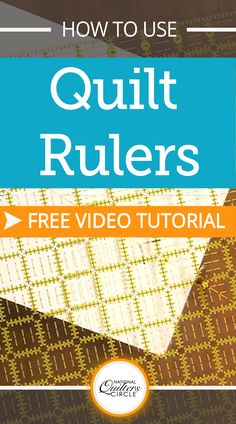 Selecting the right quilting ruler depending on what you are making can help save you time and money. Once you figure out what type of quilting ruler you are most comfortable using you will find that you can do most of your cuts with just that one ruler.