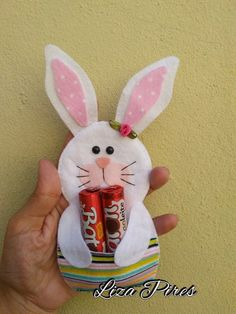Cris Silva Easter Games, Easter Toys, Easter Candy, Easter Activities, Easter Gift, Easter Stuff, Rabbit Crafts, Bunny Crafts, Easter Crafts