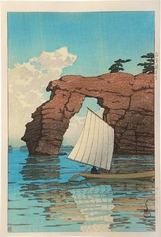 HASUI,  Collection of scenic views of Japan, eastern Japan edition: Zaimoku Island, Matsushima (Nihon fukei shu higashi Nihon hen: Matsushima Zaimokuto)   (Showa 8 [1933], 5th month)