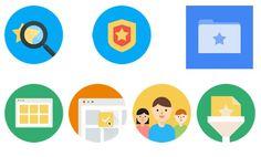 Quelques icônes « fuitées » de Google Stars.