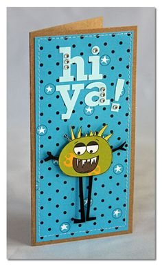 Hi Ya Card by Summer Fullerton using Jillibean Soup (via the Jillibean Soup blog).