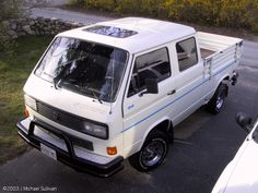 Syncro Doka with factory sunroof. Transporter T3, Volkswagen Transporter, Volkswagen Bus, Vw Camper, Combi T1, T2 T3, Vw Vanagon, Camper Van Conversion Diy, Vans Style