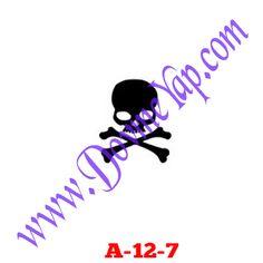 Kuru Kafa - İskelet Geçici Dövme Şablon Örneği Model No: A-12-7