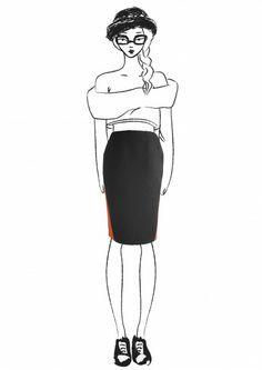 Midi black skirt with orange insertions Roman Holiday, Snow White, Orange, Disney Princess, Disney Characters, Skirts, Collection, Vintage, Black