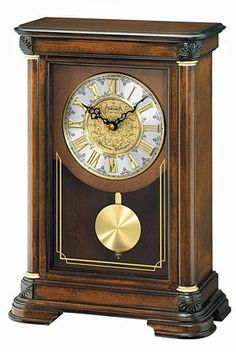 Seiko Mantel Chime Clock with Ornamental Dial Pendulum and Brown Alder Case Tabletop Clocks, Mantel Clocks, Clock Decor, Wood Clocks, Antique Clocks, Mantle, Vintage Clocks, Desk Clock, Sistema Solar
