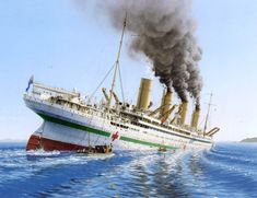 Hospital ship HMHS Britannic torpedoed by U-73 off Gallipoli